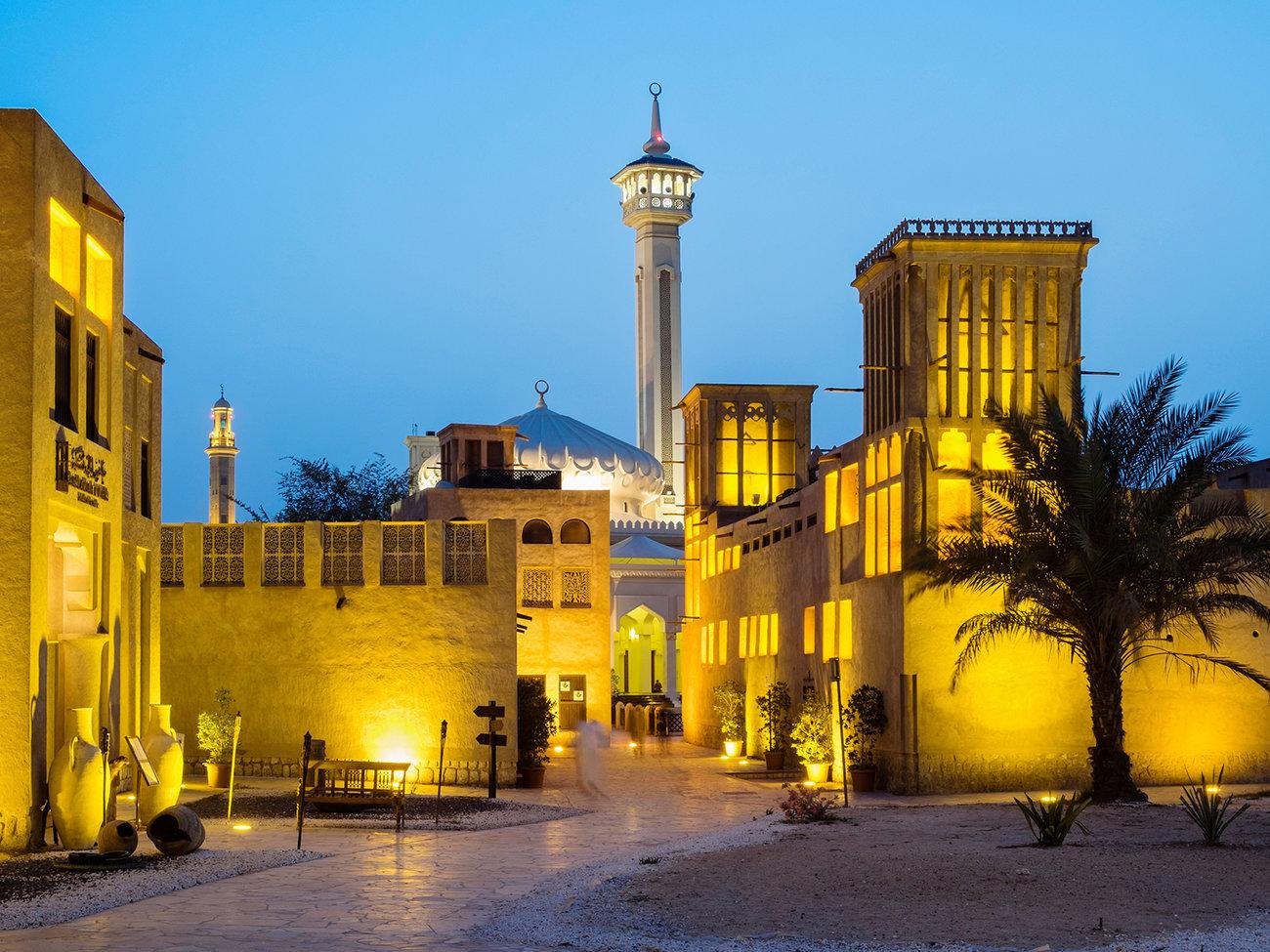 Bastakia (Old Dubai) in Dubai from Bangalore