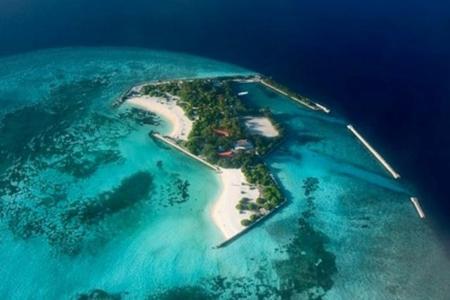 Feydhoo Island in Maldives